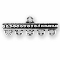 Antique Silver Beaded 5-1 Link