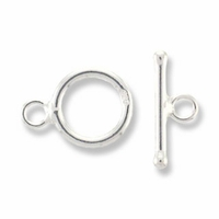 Sterling Silver Small Plain Toggle