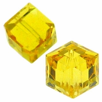 Light Topaz 5601 Swarovski 6mm Cube Bead (1PC)