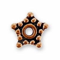 5mm Antique Copper Star Spacer Bead (10PK)