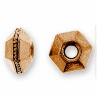 5mm Antique Copper Faceted Spacer (10PK)