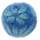 14mm Indonesia Blue Floral Design Resin Beads (5PK)