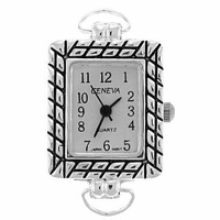 Silver Loop Framed Watch Face