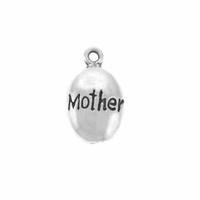 Shiny Mother Drop Sterling Silver Charm