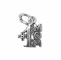 Small #1MOM Sterling Silver Charm