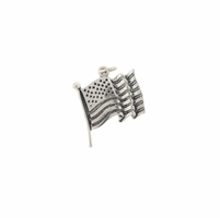US Flag Sterling Silver Charm