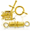 Gold Plated Clasps and Toggles