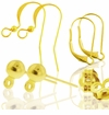 Gold Plated Stainless Steel Earring Findings