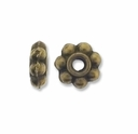 Antiqued Brass 5mm Daisy Spacer Beads (50PK)