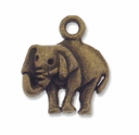 Antiqued Brass 16mm Elephant Charm (10PK)