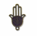 Antiqued Brass 24mm Hamsa Hand Charm (10PK)