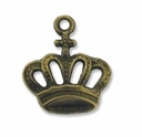 Antiqued Brass 20mm Crown Charm (10PK)