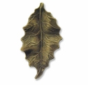 Antiqued Brass 46mm Leaf Charm/Pendant (3PK)