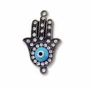 Antiqued Brass Hamsa Hand 1-1 Link (1PC)