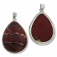 Red Jasper 44mm Teardrop Pendant (1PC)