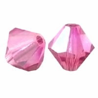 Rose AB  5328 8mm Swarovski Crystal XILION Bicones Beads (1PC)