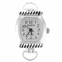 Silver Loop Rope Bar Watch Face