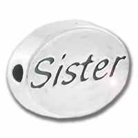 Sister Sterling Silver Message Bead
