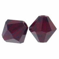 Siam 5328 8mm Swarovski Crystal XILION Bicone Beads(1PC)