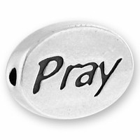Pray Sterling Silver Message Bead