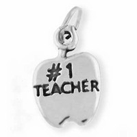 Apple #1 Teacher Charm
