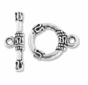 Antiqued Silver Bali Style Toggle (5PK)