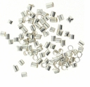 Silver Plated Tube Crimps (100PK)