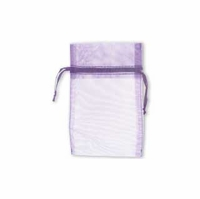 7x9cm  Purple Sheer Organza Gift Bags (5PK)