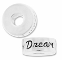 MIOVI™ Sterling Silver Large Hole 10mm DREAM Rondel Bead (1PC)