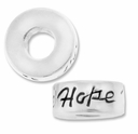 MIOVI™ Sterling Silver Large Hole 10mm HOPE Rondel Bead (1PC)