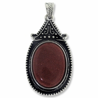 Goldstone 54mm Oval Pendant (1PC)