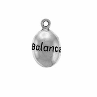 Shiny Balance Drop Sterling Silver Charm