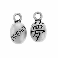 Satin 2 Sided Dream Sterling Silver Charm