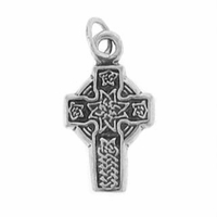 Small Celtic Sterling Silver Cross Sterling Silver Charm