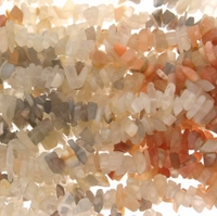Multi-Color Moon Stone Beads Chips 36 inch Strand