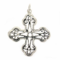 Filigree Sterling Silver Cross Sterling Silver Charm