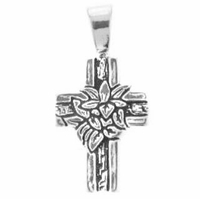 Sterling Silver Cross- Lily