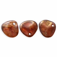 Czech Rose Petals 8/7mm Rosaline-Copper Picasso Glass Beads (50PK)