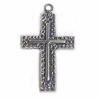 Sterling Silver Heavy Textured Cross