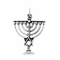 Menorah w/Star of David