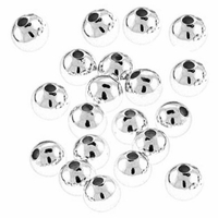 3mm Silver Plated Round Beads (100PK)