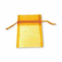 3x4 Inch Gold Sheer Organza Gift Bag