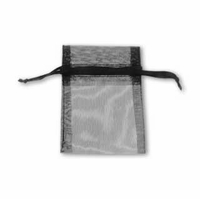 3x4 Inch Black Sheer Organza Gift Bag