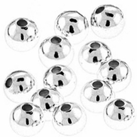 5mm Silver Plated Round Beads (50PK)