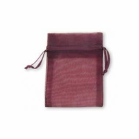 3x4 Inch Plum Sheer Organza Gift Bag