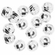 6mm Silver Plated Round Corrugated Beads (10PK)
