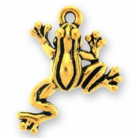 Antique Gold Leap Frog Charm