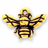Antique Gold Honey Bee Charm