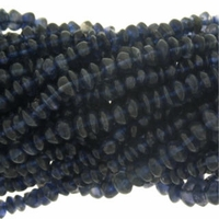 Iolite 4mm Button Beads 14.75 inch Strand