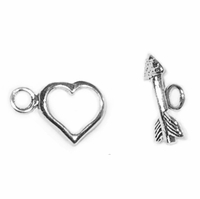 Sterling Silver Heart Toggle #17